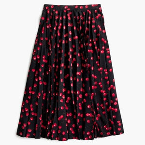 NWT Jcrew Cherry print skirt, Sz 6P